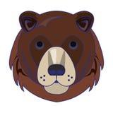 Líneas azules aisladas historieta principal animal de la fauna del oso ilustración del vector