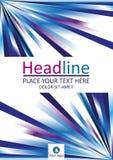 Líneas azules diseño de la cubierta de libro A4 Vector Fotos de archivo libres de regalías