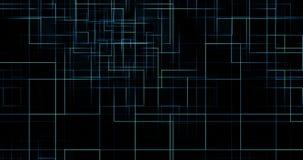 Líneas azules eléctricas verticales y horizontales digitales abstractas fondo, textura del modelo