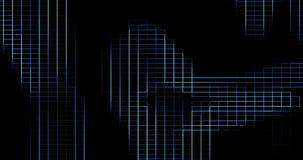 Líneas azules elettric verticales y horizontales digitales abstractas fondo
