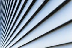 Líneas azules en la ascensión sucesiva Foto de archivo libre de regalías