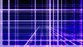 Líneas azules verticales y horizontales digitales abstractas fondo, lazo inconsútil listo metrajes