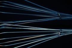 Líneas azules y de plata abstractas Imagen de archivo