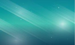 Líneas blancas abstractas en fondo azul de la turquesa con s que brilla intensamente Fotografía de archivo libre de regalías