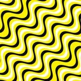 Líneas blancas, amarillas y negras backgorund de la onda Amarillo y vector eps10 del fondo de las rayas negras ilustración del vector