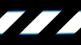 Líneas blancas diagonales en cierre del negro encima del fondo Foto de archivo