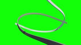 Líneas blancas que remolinan en fondo verde stock de ilustración