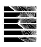 Líneas blancos y negros Fotografía de archivo libre de regalías