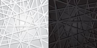 Líneas blancos y negros abstractas fondo futurista de la coincidencia VE libre illustration