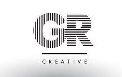 Líneas blancos y negros letra Logo Design de GR G R Fotos de archivo libres de regalías