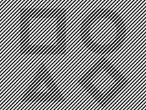 Líneas blancos y negros triángulo del círculo del cuadrado de la ilusión Imagen de archivo libre de regalías