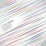 Líneas borrosas coloreadas Imagen de archivo