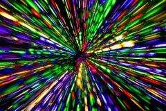 Líneas borrosas diagonal de luces del color Fotografía de archivo libre de regalías