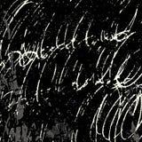 Líneas brillantemente coloreadas pintada en un ejemplo negro del vector del fondo Foto de archivo libre de regalías