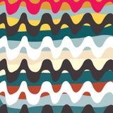 Líneas brillantemente coloreadas pintada en un ejemplo negro del vector del fondo stock de ilustración