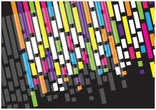 Líneas brillantes del vector abstracto aisladas en fondo negro Foto de archivo
