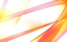 Líneas brillantes rosas claras y amarillas Stock de ilustración
