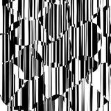 Líneas caóticas al azar modelo geométrico del extracto Imagenes de archivo