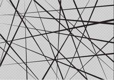 Líneas caóticas al azar modelo geométrico del extracto Fondo del vector Puede ser utilizado en el diseño de la cubierta, diseño d libre illustration