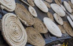 Líneas circulares de la cuerda para la decoración Imagenes de archivo