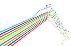 Líneas coloreadas Imagenes de archivo