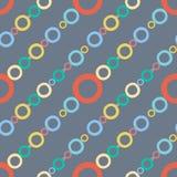 Líneas coloreadas dibujadas mano modelo inconsútil del fondo del círculo Fotografía de archivo libre de regalías
