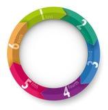 Líneas coloreadas ejemplos papel de las flechas de las bandas de Infographic Imagen de archivo libre de regalías