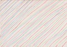 Líneas coloreadas en el fondo de papel Fotografía de archivo