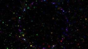 Líneas coloreadas HD lleno del fractal abstracto metrajes