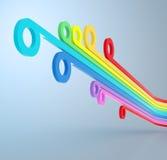 Líneas coloridas Foto de archivo