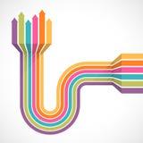 Líneas coloridas con las flechas Stock de ilustración