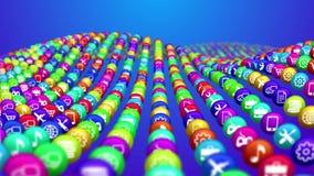 Líneas coloridas de bolas sociales de las noticias ilustración del vector