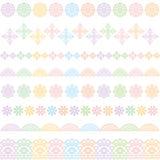 Líneas coloridas del cordón Ajuste del cordón ilustración del vector