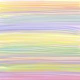 Líneas coloridas del fondo de la pintura del espectro de color en colores pastel Fotos de archivo