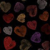 Líneas coloridas inconsútiles modelo de los corazones del vector Textura para la cubierta, papel, regalo, tela, materia textil Ad Imagen de archivo