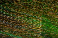 Líneas coloridas móviles Foto de archivo libre de regalías