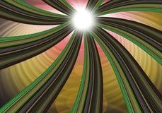 Líneas coloridas torcedura Foto de archivo libre de regalías