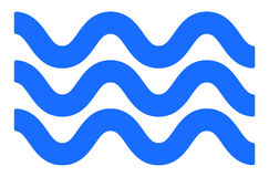Líneas con agitar, efecto ondeante Ondulado, líneas del zigzag libre illustration