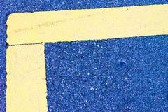 Líneas concretas abstractas amarillo azul Fotos de archivo