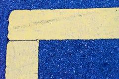 Líneas concretas abstractas amarillo azul Imagen de archivo
