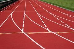 Líneas corrientes de la pista Imagen de archivo