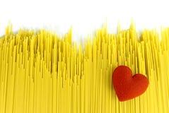 Líneas crudas de los espaguetis foto de archivo libre de regalías