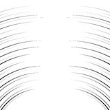 Líneas curvadas horizontales cómicas fondo Imágenes de archivo libres de regalías