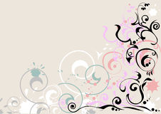 Líneas Curvy fondo Imagen de archivo