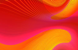 Líneas curvy rojas abstractas fondo Fotografía de archivo