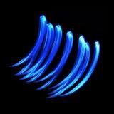 Líneas danza azules Imagen de archivo libre de regalías