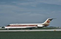 Líneas de aire continentales Douglas DC-9-32 N532TX en Dallas Foto de archivo