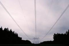 Líneas de alto voltaje Fotografía de archivo libre de regalías