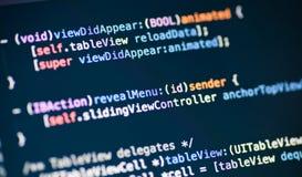 Líneas de código objetivas de C imágenes de archivo libres de regalías