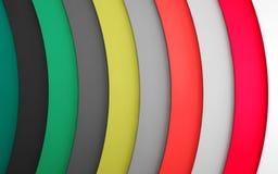 Líneas de color abstractas Imagen de archivo libre de regalías